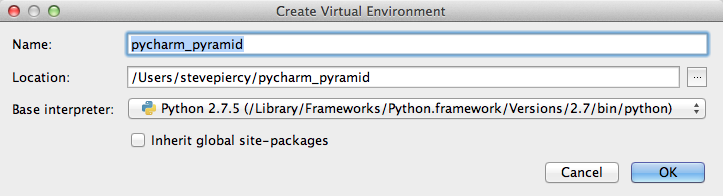 Using PyCharm with Pyramid — The Pyramid Community Cookbook v0 2
