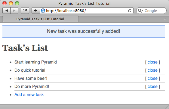 todo list application in one file the pyramid community cookbook v0 2